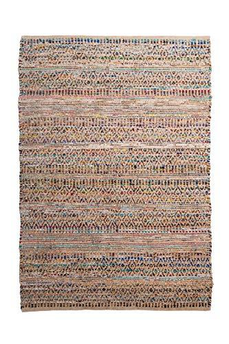Alfombra de Yute rectangular Multicolor Etni, alfombra natural de fibra de yute...