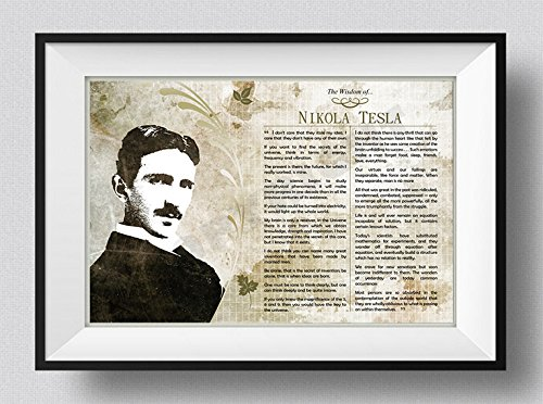 La sabiduría de Nikola Tesla Póster - Foto Art Print Afiche Regalo...