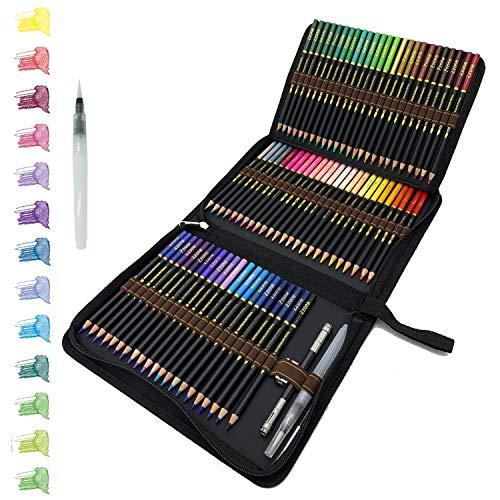 72 Lápices de Colores Acuarelables en estuche con cremallera, Fácil de...