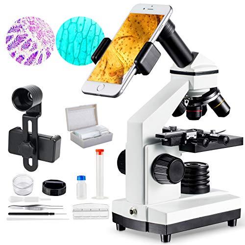 MAXLAPTER 1000x Microscopio para Niños Profesional Portatil, Lente Zoom de 4X...