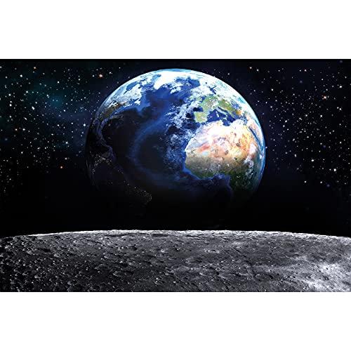 GREAT ART® XXL Póster – Vista de la Tierra desde el espacio – Decoración...