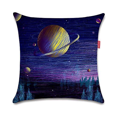 WEIANG Fundas para Cojines De Dos Caras Cojín Decorativos Universo Espacio...