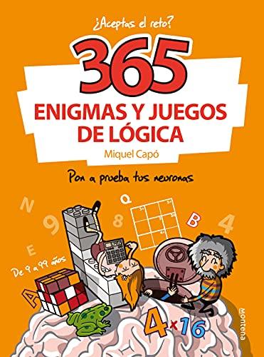365 enigmas y juegos de lógica: Para niños y niñas. Acertijos divertidos y...