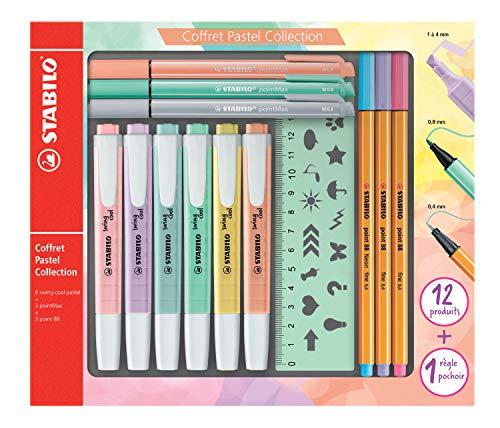 Stabilo Pastel Collection – Estuche mixto de 13 piezas: 6 Stabilo Swing Cool +...