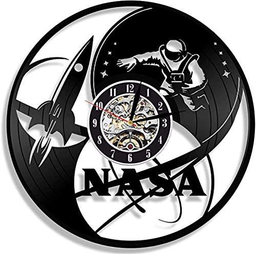 NASA Reloj De Pared De Vinilo Diseño De Espacio Exclusivo Regalo De Ciencia...