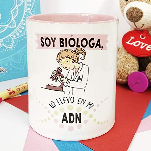 La mente es Maravillosa - Taza Frase y Dibujo Divertido (Soy bióloga, lo llevo...