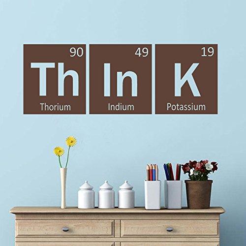 Think Elements - Vinilo adhesivo para pared con cita periódica (marrón, 43 cm...