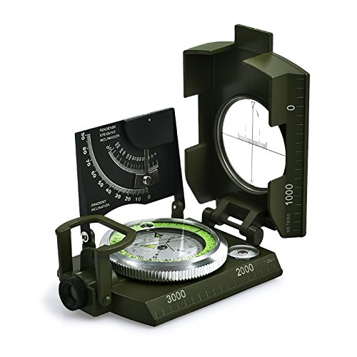 Proster Brújula Militar Impermeable Profesional, Brújula Metal para Apuntar...