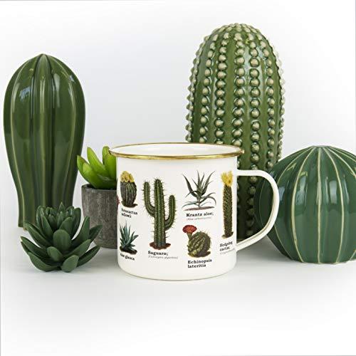 Gift Republic Botanica - Taza (esmalte), diseño de cactus