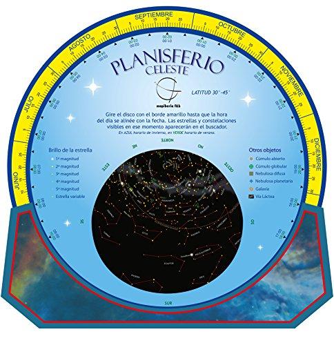 Planisferio celeste. Dos caras. Reversible. Castellano. Editorial Mapiberia &...