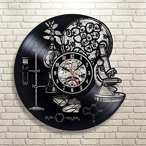 Gullei.com Reloj de pared de vinilo creativo para profesor de química