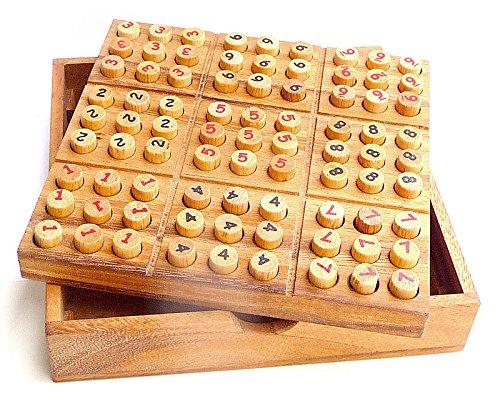 Logica Juegos Art. Sudoku de Madera - Rompecabezas Matemático - Multijuegos -...