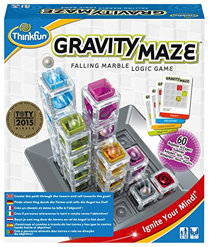 ThinkFun 763399, Gravity Maze, Juego de Habilidad, Juego de Logica, Edad...