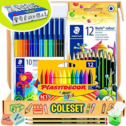 Coleset Pack Material Escolar Primaria Set Vuelta al Cole Kit Escolar Infantil...