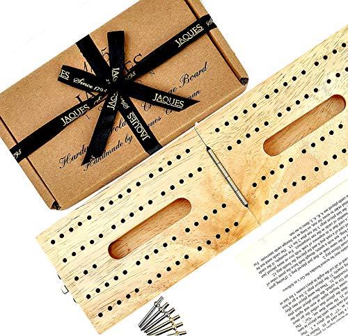 Jaques Tablero de Cribbage Plegable de Madera Dura Londres - Completo con...