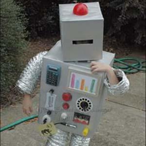 disfraces de niño robot casero