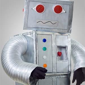 disfraz robot niño carton