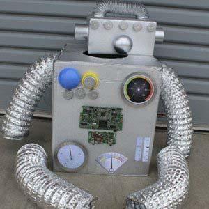 disfraz robot para niños casero