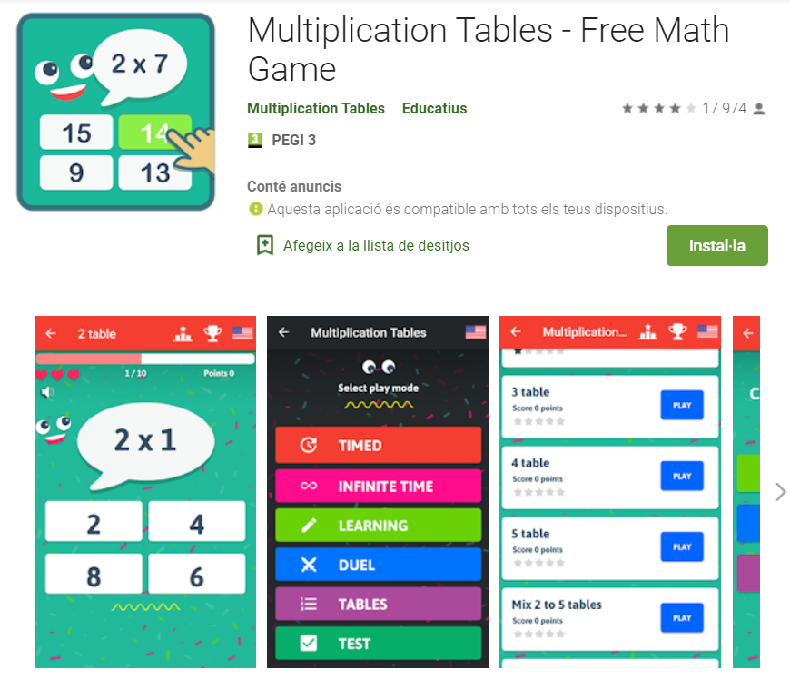 juegos para aprender las tablas de multiplicar y dividir