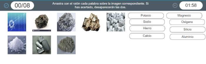 6juego de minerales el corte ingles