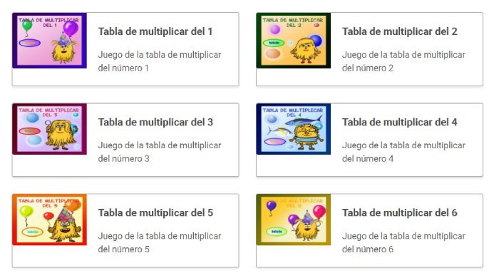 juegos para aprender las tablas de multiplicar con tiempo