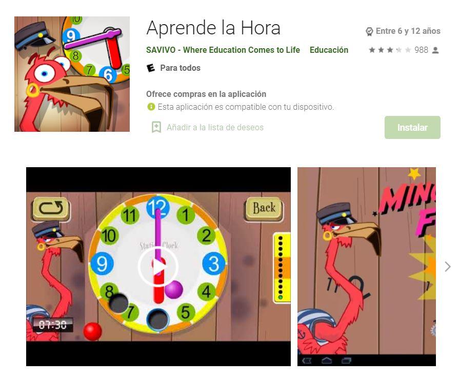 app-aprender-horas-juego
